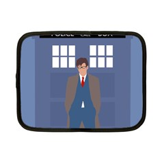 Tenth Doctor And His Tardis Netbook Case (small)
