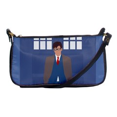 Tenth Doctor And His Tardis Shoulder Clutch Bags