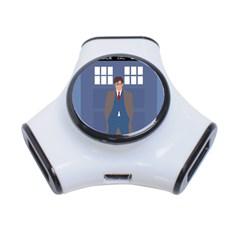 Tenth Doctor And His Tardis 3 Port Usb Hub