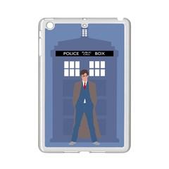 Tenth Doctor And His Tardis Ipad Mini 2 Enamel Coated Cases