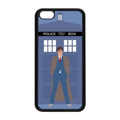 Tenth Doctor And His Tardis Apple Iphone 5c Seamless Case (black)