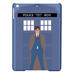 Tenth Doctor And His Tardis Ipad Air Hardshell Cases