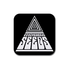 Psychedelic Seeds Logo Rubber Square Coaster (4 Pack)