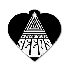 Psychedelic Seeds Logo Dog Tag Heart (one Side)