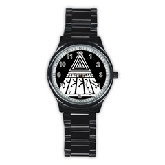 Psychedelic Seeds Logo Stainless Steel Round Watch by Samandel