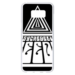 Psychedelic Seeds Logo Samsung Galaxy S8 Plus White Seamless Case