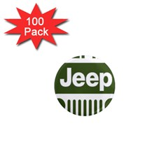 Only In A Jeep Logo 1  Mini Magnets (100 Pack)