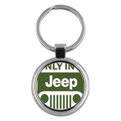 Only In A Jeep Logo Key Chains (round)