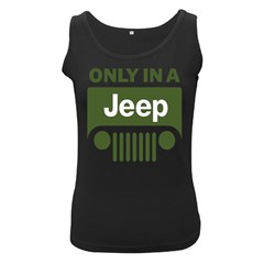 Only In A Jeep Logo Women s Black Tank Top