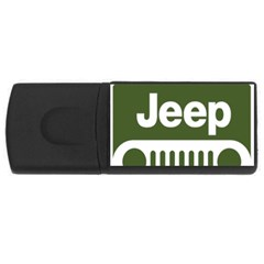 Only In A Jeep Logo Rectangular Usb Flash Drive