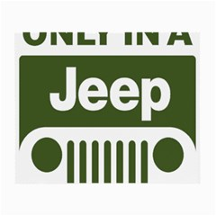 Only In A Jeep Logo Small Glasses Cloth (2 Side)