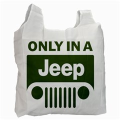 Only In A Jeep Logo Recycle Bag (two Side)