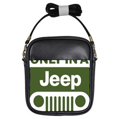 Only In A Jeep Logo Girls Sling Bags by Samandel