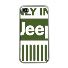 Only In A Jeep Logo Apple Iphone 4 Case (clear)