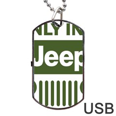 Only In A Jeep Logo Dog Tag Usb Flash (one Side)
