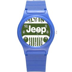 Only In A Jeep Logo Round Plastic Sport Watch (s)