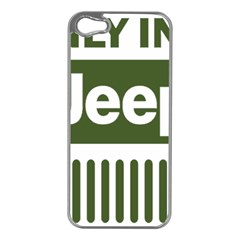 Only In A Jeep Logo Apple Iphone 5 Case (silver)