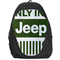 Only In A Jeep Logo Backpack Bag