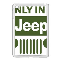 Only In A Jeep Logo Apple Ipad Mini Case (white)