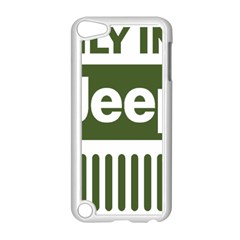 Only In A Jeep Logo Apple Ipod Touch 5 Case (white) by Samandel