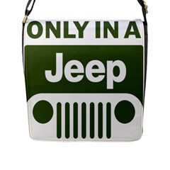 Only In A Jeep Logo Flap Messenger Bag (l)