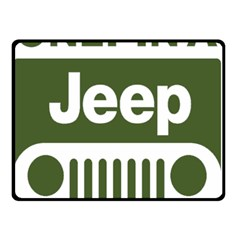 Only In A Jeep Logo Double Sided Fleece Blanket (small)