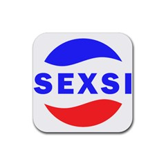 Sexsi Sexy Logo Rubber Square Coaster (4 Pack)