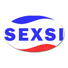 Sexsi Sexy Logo Oval Magnet by Samandel
