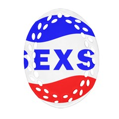 Sexsi Sexy Logo Oval Filigree Ornament (two Sides)