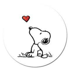 Snoopy Love Magnet 5  (round)