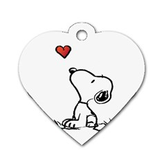 Snoopy Love Dog Tag Heart (two Sides)