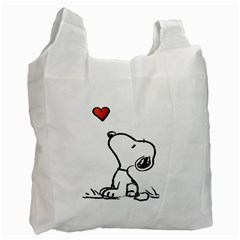 Snoopy Love Recycle Bag (two Side)