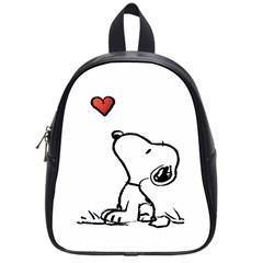 Snoopy Love School Bag (small)