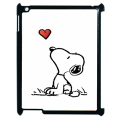 Snoopy Love Apple Ipad 2 Case (black)