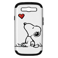 Snoopy Love Samsung Galaxy S Iii Hardshell Case (pc+silicone)