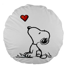Snoopy Love Large 18  Premium Round Cushions