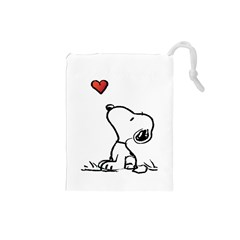 Snoopy Love Drawstring Pouches (small)