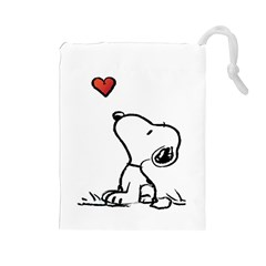 Snoopy Love Drawstring Pouches (large)