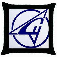 Sukhoi Aircraft Logo Throw Pillow Case (black)