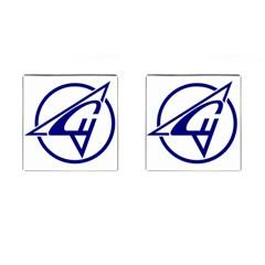 Sukhoi Aircraft Logo Cufflinks (square)