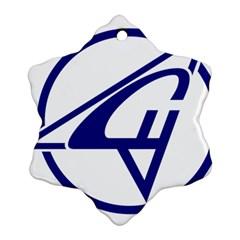 Sukhoi Aircraft Logo Snowflake Ornament (two Sides)
