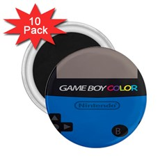 Game Boy Colour Blue 2 25  Magnets (10 Pack)