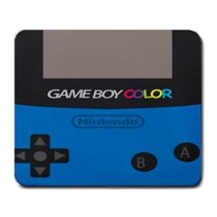 Game Boy Colour Blue Large Mousepads