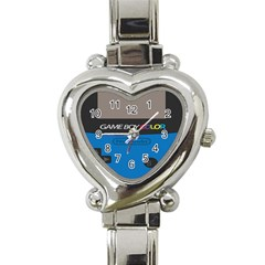 Game Boy Colour Blue Heart Italian Charm Watch by Samandel