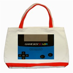 Game Boy Colour Blue Classic Tote Bag (red)