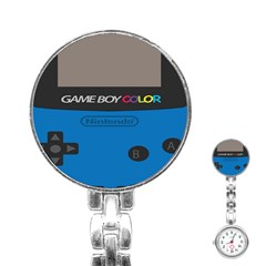 Game Boy Colour Blue Stainless Steel Nurses Watch