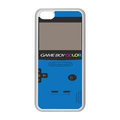 Game Boy Colour Blue Apple Iphone 5c Seamless Case (white)