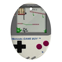 Game Boy White Ornament (oval)