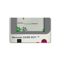 Game Boy White Magnet (name Card)