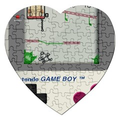 Game Boy White Jigsaw Puzzle (heart)